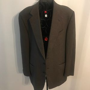 Missoni  Mens VTG Brown Tweed Blazer